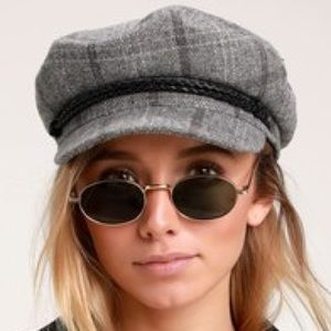 Fiddler grey plaid fisherman cap